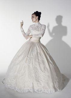 Lace Strapless Ballgown with Sweetheart Neckline & Detachable Bolero