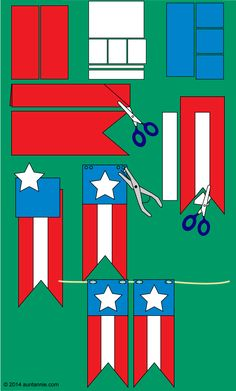 How to make a stars and stripes pennant banner