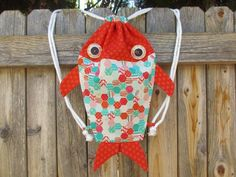 Fat Quarter-Friendly Drawstring Fish Bag | Craftsy