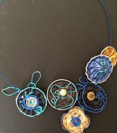 Statement necklace made of coffee capsules.#bisuteriarecicladasvs