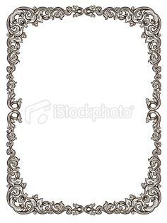 black filagree frame