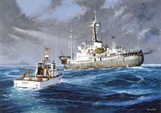 USCG 41342 inspeccionando un buque de la URSS