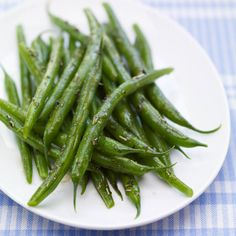 When green beans are bountiful in your garden or the local farm stand, prepare this quick and easy side dish. It's seasoned with a Super Spice combination of rosemary and thyme.