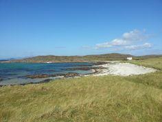 Warm sandy beaches and Scottish Atlantic seas...brrr