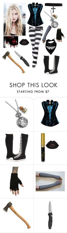 """""""Wonderland - Creepypasta OC"""" by shadow-cheshire ❤ liked on Polyvore featuring Converse"""