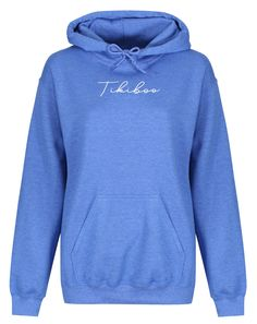 Complementing your Tikiboo collection, our Essence loungewear range brings both style and comfort.  This stylish sky blue hoodie features white Tikiboo Essence logo detail, front pockets (with toggles on the hood), and is fleece-lined inner for warmth; perfect for autumn and winter workouts. Hooded Sweatshirts, Hoodies, Blue Hoodie, Loungewear, Workouts, Bring It On, Range, Sky, Pockets