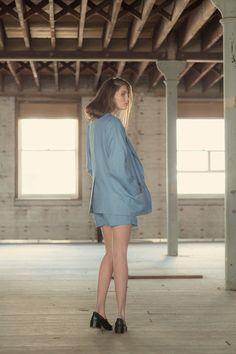 Blue / Blue look by Yuka&Tristan August Sander, Fashion Labels, Easel, Summer Collection, Women Wear, Spring Summer, Summer Dresses, Beauty, Blue