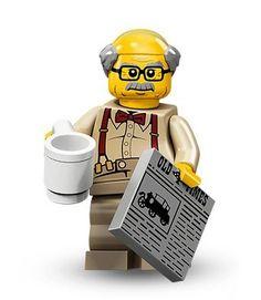 Genuine LEGO GRANDMA w// Cookies /& GRANDPA w// Newspaper Custom Minifigs