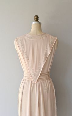 Biarritz tabard dress 1920s silk chiffon dress by DearGolden