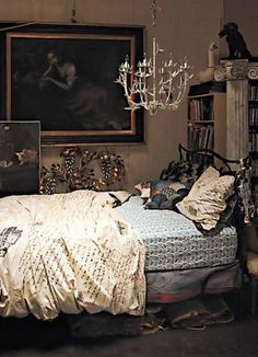I love this beautiful clutter.  Elegant, cozy and lovely.