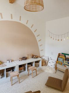 Montessori Playroom, Toddler Playroom, Boys Playroom Ideas, Toddler Bedroom Ideas, Childrens Bedrooms Girls, Montessori Toddler Bedroom, Little Boy Bedroom Ideas, Kids Playroom Storage, Montessori Toddler Rooms