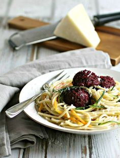 Switch up your traditional spaghetti and meatballs dish and try spaghetti with beet balls. Via @hungrycouplenyc