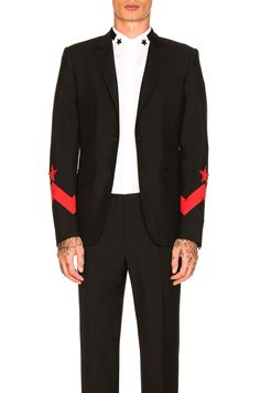 purchase cheap 4a719 d6ad2 Mens fashion · GIVENCHY Blazer in Black  Red