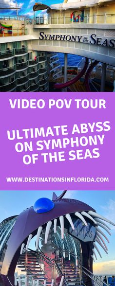 Check out the Ultimate Abyss slide POV on board the new Symphony of the Seas. This incredible thrill is perfect for the whole family on board the Royal Caribbean ship. Cruise Travel, Cruise Vacation, Vacation Trips, Top Family Vacations, Family Cruise, Best Cruise Ships, Disney Cruise Ships, Symphony Of The Seas, Harmony Of The Seas