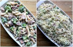 Enkel, krema pølsegrateng - LINDASTUHAUG Potato Salad, Cabbage, Potatoes, Chicken, Vegetables, Ethnic Recipes, Food, Vegetable Recipes, Eten