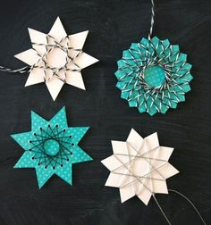 This super easy Christmas DIY project, the homemade paper & string star ornament, is perfect for the smallest crafty hands to practice coordination and create gorgeous frugal Christmas tree decors at the same time! These gorgeous yarn star Christmas tree ornaments are ...