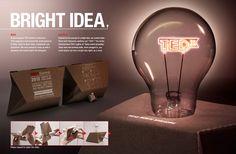 TEDx - Bright ideas by Tay Kok Wei, via Behance