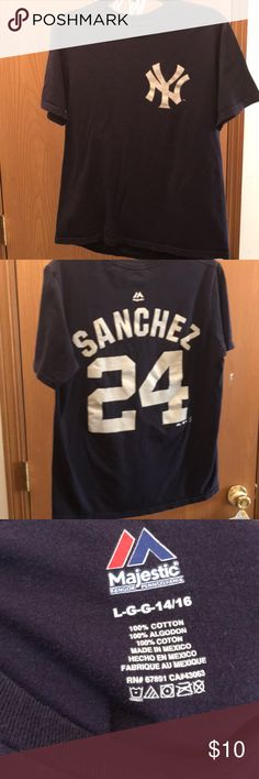 Aaron Judge 2017 A.L ROOKIE OF THE YEAR t-shirt Youth size Large 14//16 NEW