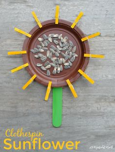 Mini Clothespin Sunflower