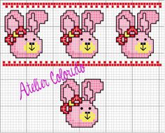 Atelier Colorido PX: Maio 2011 Cross Stitch Baby, Cross Stitch Animals, Cross Stitch Charts, Cross Stitch Embroidery, Fun Crafts, Diy And Crafts, Easter Cross, Stitch 2, Hand Stitching
