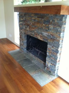 Cultured Slate Fireplace Surround Black Culture Stone Slate