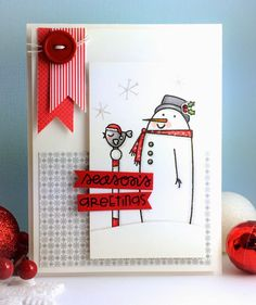 Swanky Snowdudes stamp set by Paper Smooches * The Queen's Scene: Season's Greetings