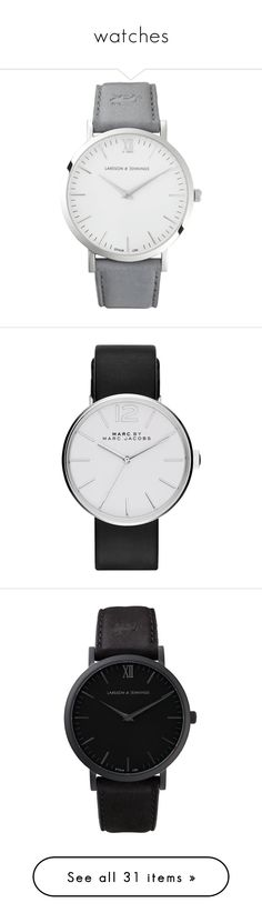 """""""watches"""" by rowan-asha ❤ liked on Polyvore featuring jewelry, watches, accessories, bracelets, relojes, marc by marc jacobs, marc by marc jacobs watches, leather strap watches, marc by marc jacobs jewelry and crown jewelry"""