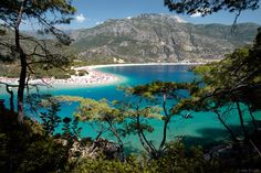 Ölüdeniz  Mediterranean Sea, Turkey  the turquoise waters of Ölüdeni