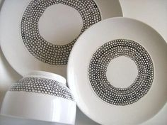 DIY: Marimekko-Inspired Painted Porcelain