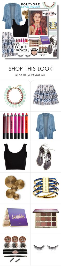 """""""Untitled #126"""" by madhu-147 ❤ liked on Polyvore featuring J.Crew, Caroline Constas, Urban Decay, Evans, Calvin Klein Collection, WithChic, Arteriors, Michael Kors, tarte and shu uemura"""