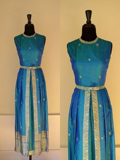 Saree dress- unusual style but I absolutely love it especially the peacock blue
