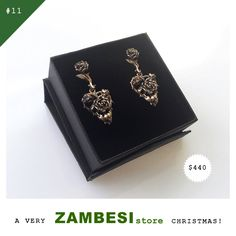 """a very ZAMBESIstore christmas selected by Karen Inderbitzen-Waller! """"I love Williams work so much and have collected it over the years. Our black cathedral wedding rings are by William from. Over The Years, The Selection, Cathedral, Wedding Rings, Personalized Items, My Love, Amazing, Earrings, Christmas"""