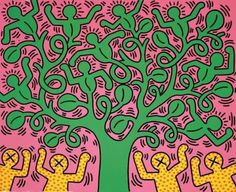 keith haring tree of life 1985