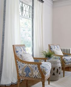Ethan Allen white with a splash of paisley..pretty..