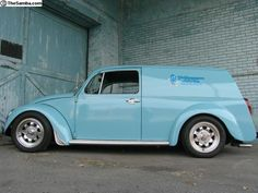 Custom VW Beetle delivery van...perfect combo...a car i love with the storage space i need!