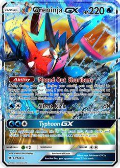 Full Art Ash-Greninja GX Custom Pokemon Card - Pokemon about you searching for. Pokemon Card Memes, Cool Pokemon Cards, Rare Pokemon Cards, Pokemon Eeveelutions, Pokemon Trading Card, Pokemon Party, Pokemon Fusion, Charizard, Ship Of The Line