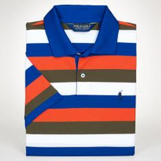 Custom-Fit Striped Polo Shirt - Polo Golf Classic-Fit - RalphLauren.com