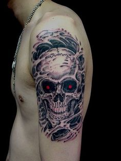 """I like the skull...coupled with a bit of """"The Terminator"""" in the eyes."""