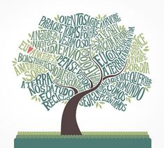 Typographic Tree Graphic