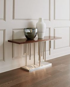 John-Richard Collection Illuminated Console in Stainless Steel Stainless Steel Furniture, Metal Furniture, Furniture Sale, Living Room Furniture, Furniture Design, Living Room Modern, Home Furnishings, Diy Home Decor, Decoration