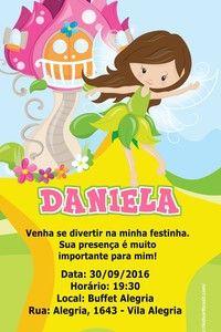 Convite digital personalizado Fadas 011