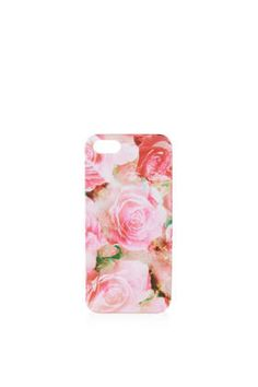 pink rose iphone 5 case / topshop