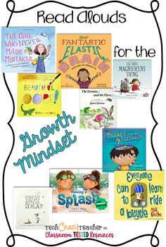 Teach Your Child to Read - Read Alouds for the Growth Mindset by Tech Crazy Teacher More - Give Your Child a Head Start, and.Pave the Way for a Bright, Successful Future. Social Emotional Learning, Social Skills, Sight Words, The Most Magnificent Thing, Growth Mindset Classroom, Growth Mindset Lessons, Growth Mindset Activities, Class Meetings, Visible Learning