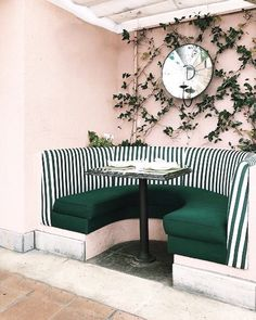 The perfect combination of blush and emerald at the @bevhillshotel via @sarahshermansamuel