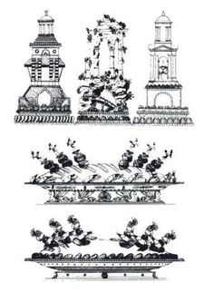 Designs by Antonin Careme, French chef, from All Manners of Food