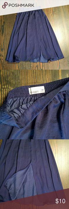 Old Navy skirt Midnight Blue color, side slit maxi skirt. Old Navy  Skirts