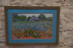 Texas Remembrance, an oil print by Cathy Frieshenhahn that was displayed in the upstairs gallery in January 2015.