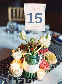 Table Number Design | Lizzie + Dallas | May 31, 2014 | Leesburg, VA