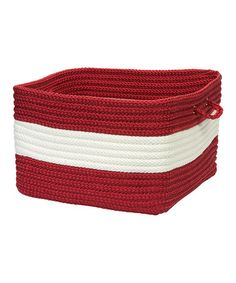 Take a look at this Red Rope Walk Utility Basket by Colonial Mills on #zulily today!