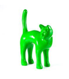 Statue Chat Vert - Animal en resine - 57 x 80 x 26 cm Description du modèle :Chat debout, couleur verte, hauteur totale 80 cm, finition vernie laquéeCaractéristiques :Référence du modèle : ART028Marque : Anim'ArtDimensions : 57 x 80 x 26 cm (Longueur x hauteur x largeur)Poids : 5,30 Kg